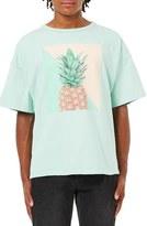 Topman Pineapple Graphic Boxy T-Shirt