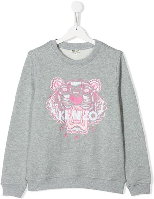 Kenzo Kids TEEN tiger embroidered sweatshirt