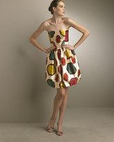 Ikat Strapless Bubble Dress