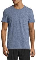 ATM Anthony Thomas Melillo Mélange Jersey Pocket T-Shirt, Dark Blue