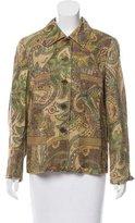 Etro Paisley Printed Button-Up Blazer