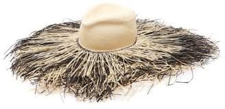 Lola Hats Porcupine Fringed Raffia Hat - Womens - Beige