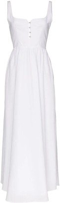 Esteban Cortazar White Corset Maxi Dress