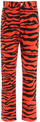 ATTICO Tiger Print Trousers