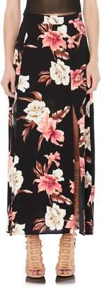 AFRM Tulum Floral Side Slit Midi Skirt