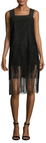 Anna Sui Fringe Trimmed Shift Dress