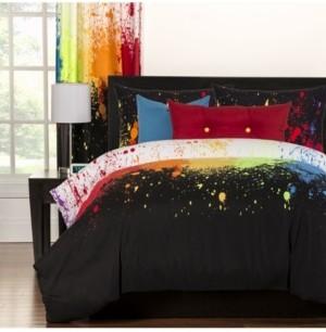 Crayola Cosmic Burst 5 Piece Twin Luxury Duvet Set Bedding