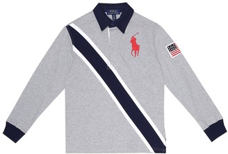 Polo Ralph Lauren Kids Logo cotton-jersey polo shirt