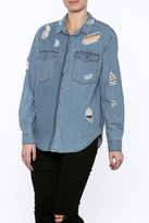 Signature 8 Distressed Denim Shirt