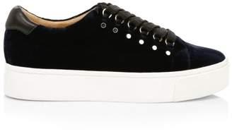 Joie Handan Velvet Platform Sneakers