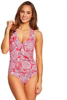 Penbrooke Lady Lace Ruffle Halter One Piece Swimsuit 8150412