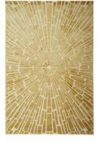 Jonathan Adler Gold Sunburst Hand-Knotted Rug