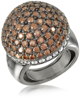 Ileana Creations Azhar Sterling Silver Cubic Zirconia Semi-Sphere Cocktail Ring