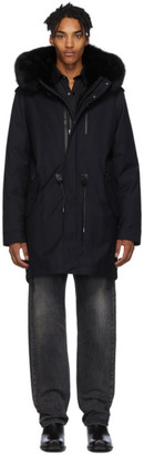 Mackage Navy and Black Down Moritz-XR Parka
