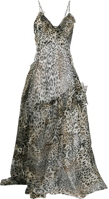 Ermanno Scervino Leopard Print Maxi Dress