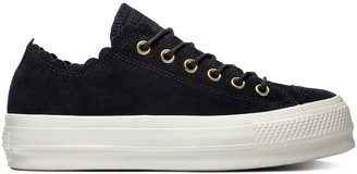 Converse Chuck Taylor All Star Suede Frilly Thrills Flatform Trainers