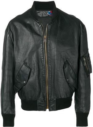 A.N.G.E.L.O. Vintage Cult 1980's Leather Bomber Jacket