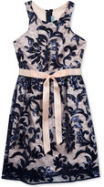Rare Editions Sequin & Lace Dress, Big Girls (7-16)