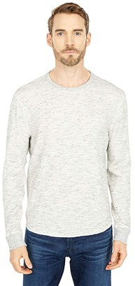 Lucky Brand Space Dye Thermal Crew (Heather Grey) Men's Clothing