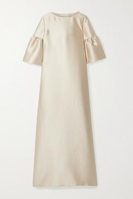 Reem Acra Satin-pique Gown - Beige