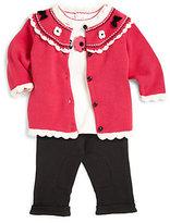 Hartstrings Infant's Flower Cardigan