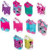Disney Girls Socks Minnie Mouse No Show 10 Pack