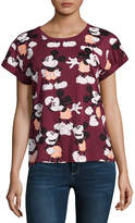 Mighty Fine Short Sleeve Crew Neck Mickey Mouse Graphic T-Shirt