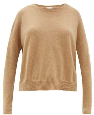 Allude Boat Neck Cashmere Sweater - Womens - Camel