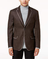 Tallia Men's Big and Tall Slim-Fit Brown Mandeacute;lange Sport Coat