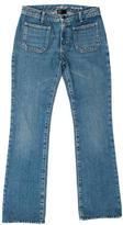 Saint Laurent Mid-Ride Straight-Leg Jeans