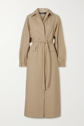 Kassl Editions Belted Cotton Trench Coat - Beige