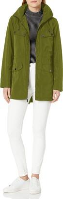 London Fog Women's Zip Front Raincoat