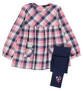 George 3 Piece Gingham Blouse and Leggings and Accessory Set