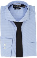 Lauren Ralph Lauren Stretch Slim Fit Pinpoint English Spread Collar with Pocket Dress Shirt Men's Long Sleeve Button Up