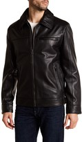 Cole Haan Spread Collar Genuine Leather Jacket