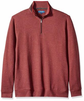 Cole Haan Men's Birdseye 1/4 Zip Knit Sweater