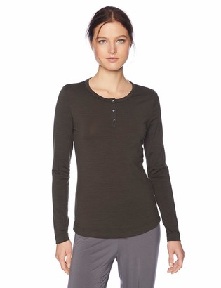 Hanro Women's Hanna Long Sleeve Henley Shirt