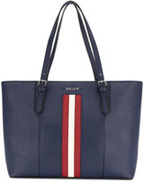 Bally stripe tote bag - women - Leather - One Size