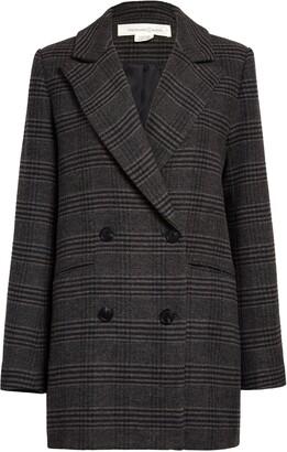 Treasure & Bond Two-Button Double Breasted Blazer Coat