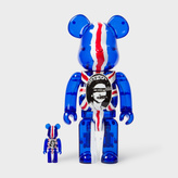 Paul Smith Medicom Be@rbrick - Sex Pistols God Save The Queen 100% & 400% Figures - Clear Blue