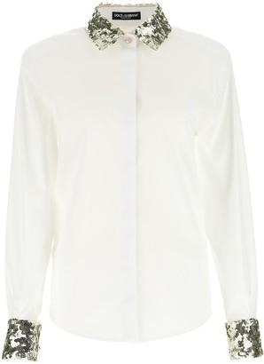 Dolce & Gabbana Sequins Trim Shirt