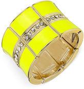 Haskell Gold-Tone Crystal Segmented Stretch Bangle Bracelet