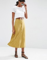 Asos Button Through Midi Skirt