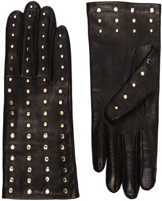 Agnelle Claire studded leather gloves