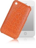 Giorgio Fedon Croco-Stamped Leather iPhone 3 Case