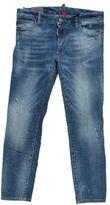 DSQUARED2 Washed Blue Stretch Denim Twiggy Jeans