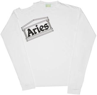 Aries Soulder Hole Super Long Sleeves Tee