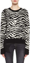 Saint Laurent Zebra Jacquard Sweater