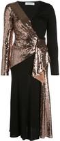 Prabal Gurung sequined wrap-front dress