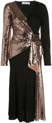Prabal Gurung sequined wrap-front dress